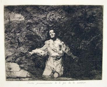 'Tristes presentimientos de lo que ha de acontecer'  de Francisco Goya. Foto: Wikipedia.org