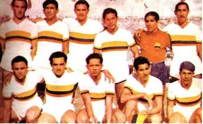 Selección de Colombia en 1945, año en el que debutó en la Copa América. Foto: sites.google.com.