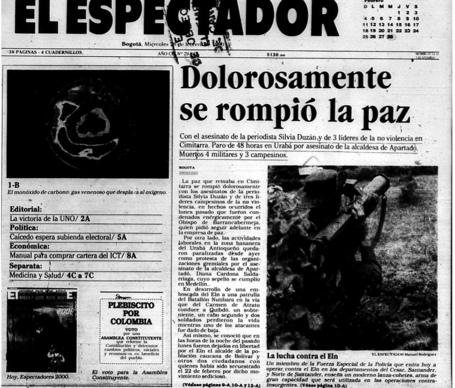 El Espectador, febrero 27 de 1990