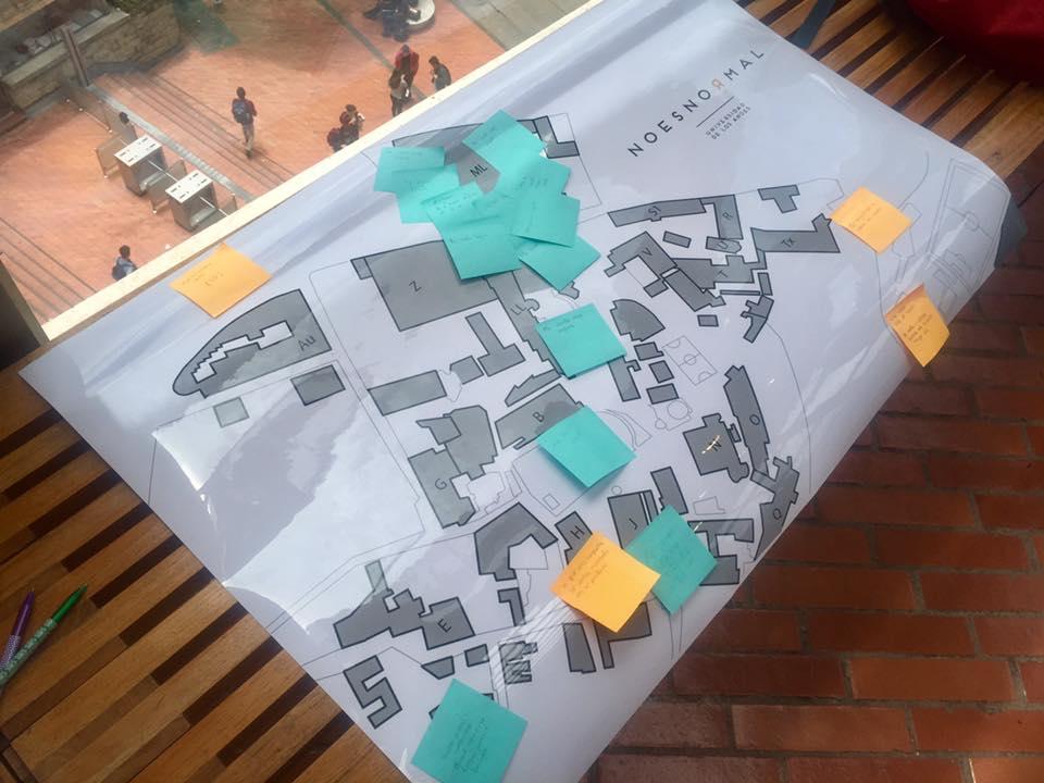Cartografía de espacios seguros y no seguros. Foto: Nora Picasso