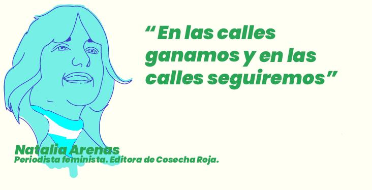 """""""En las calles ganamos y en las calles seguiremos"""" Por Natalia Arenas, periodista feminista. Editora de Cosecha Roja"""