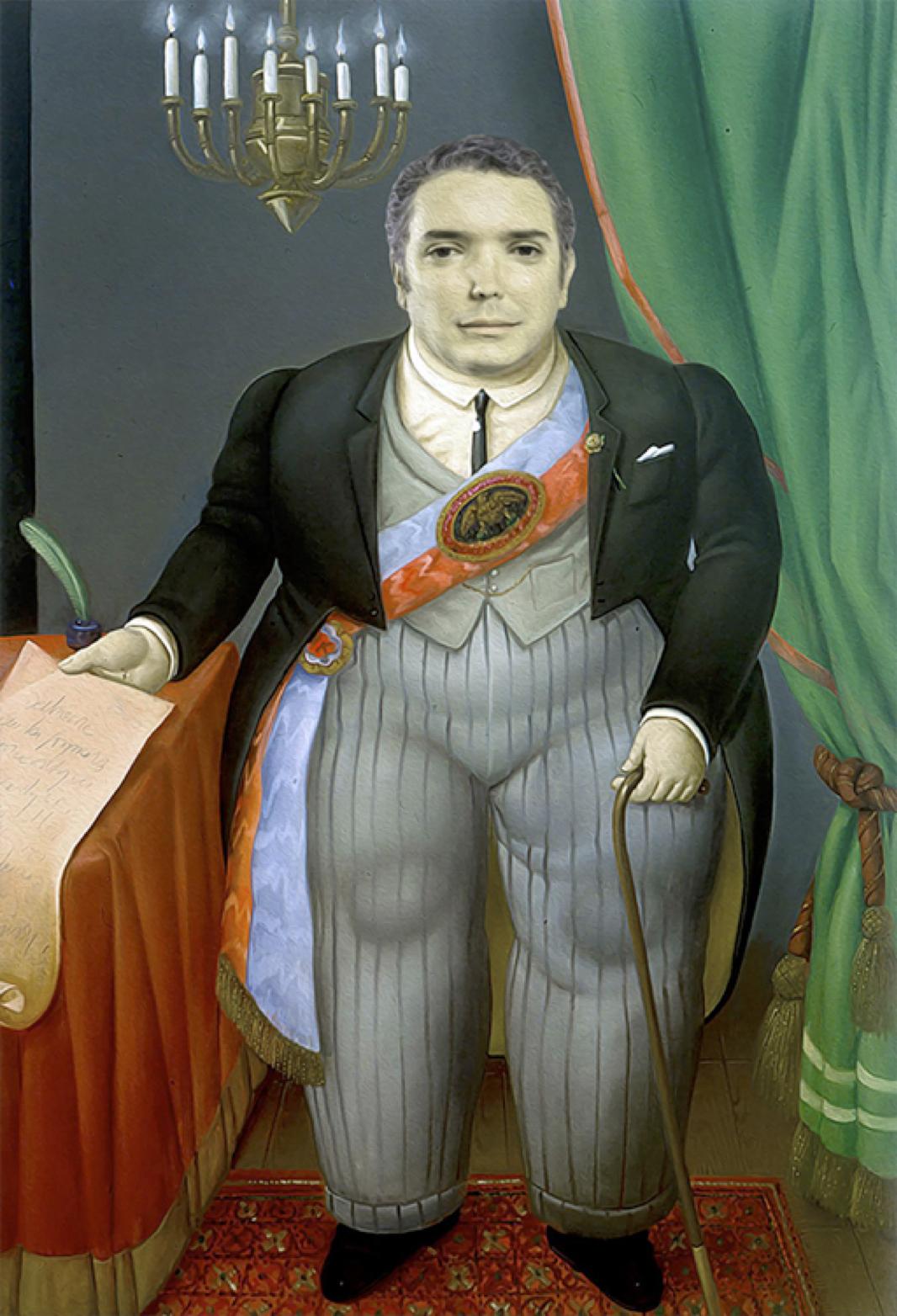 El Presidente, Fernando Botero, 2018, 198 x 130 cm, óleo sobre tela, pintura...