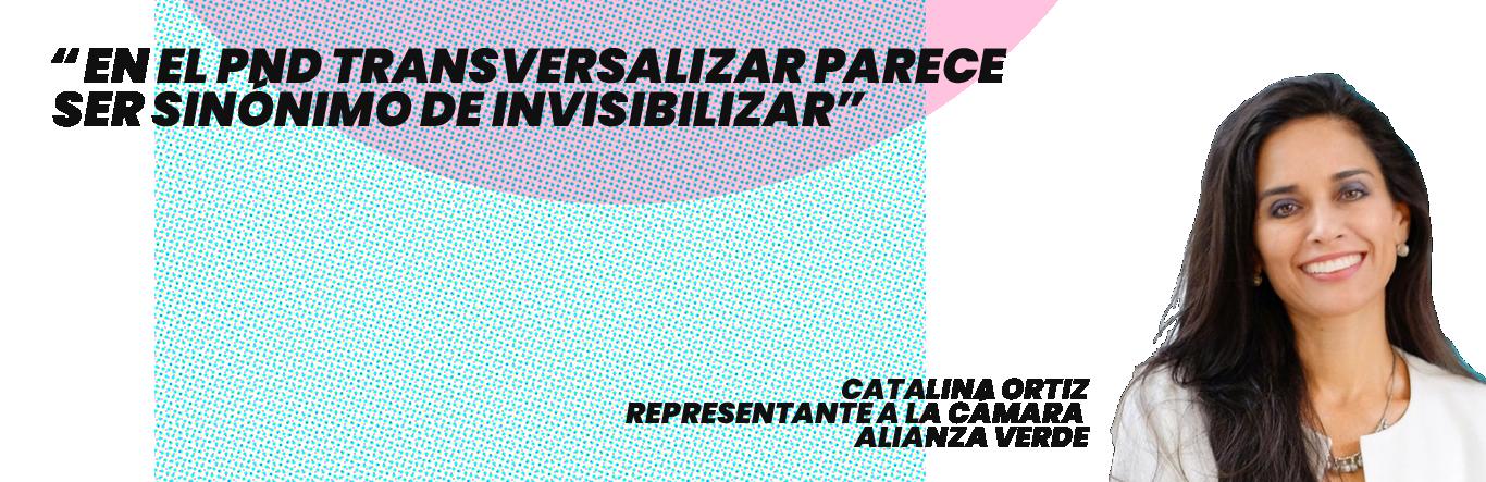 """""""En el PND transversalizar parece ser sinónimo de invisibilizar"""": Catalina Ortíz - Representante a la Cámara Alianza Verde"""