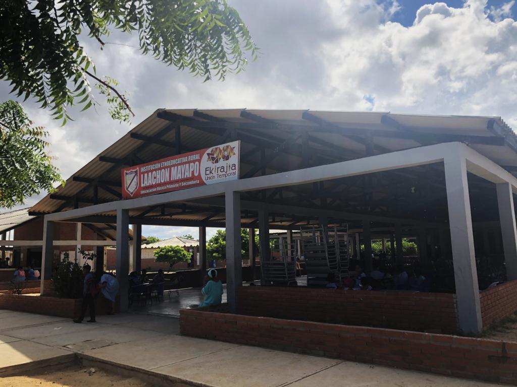 Comedor de la institución etnoeducativa rural Laachon, Mayapo, en el municipio de Manaure, departamento de La Guajira. Crédito: Betty Martínez.